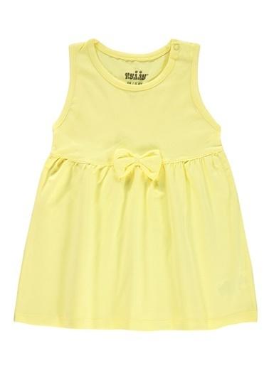 Kujju Kujju Kiz Bebek Elbise 6-18 Ay Sari Kujju Kiz Bebek Elbise 6-18 Ay Sari Sarı